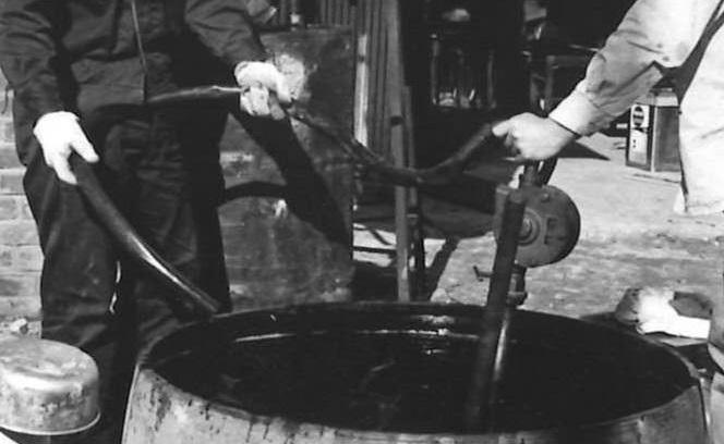 ワックスの製造 釜 攪拌